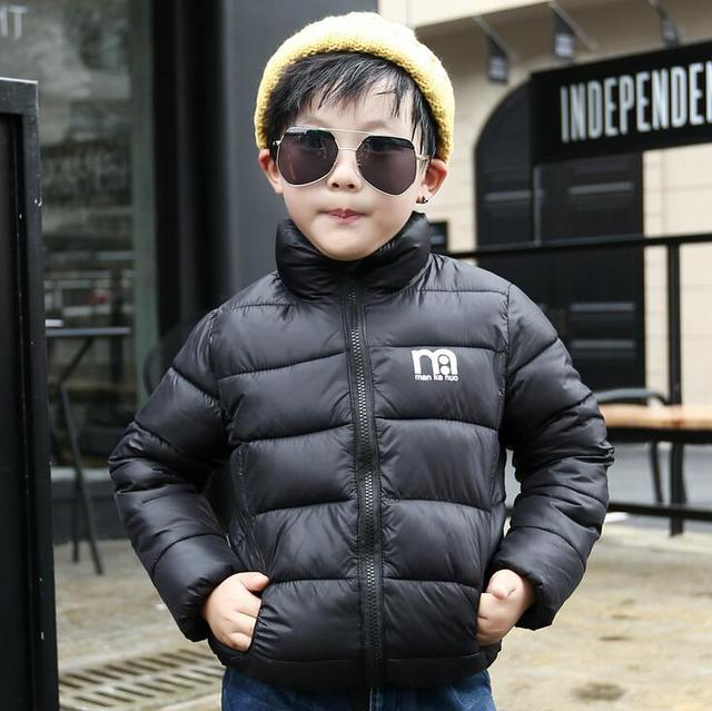 New 2016 Male Female Children's Wear Coat Baby Boys Girls Winter Jacket Thick Short Style Kids Outdoor Parkas Cotton-padded Coat
