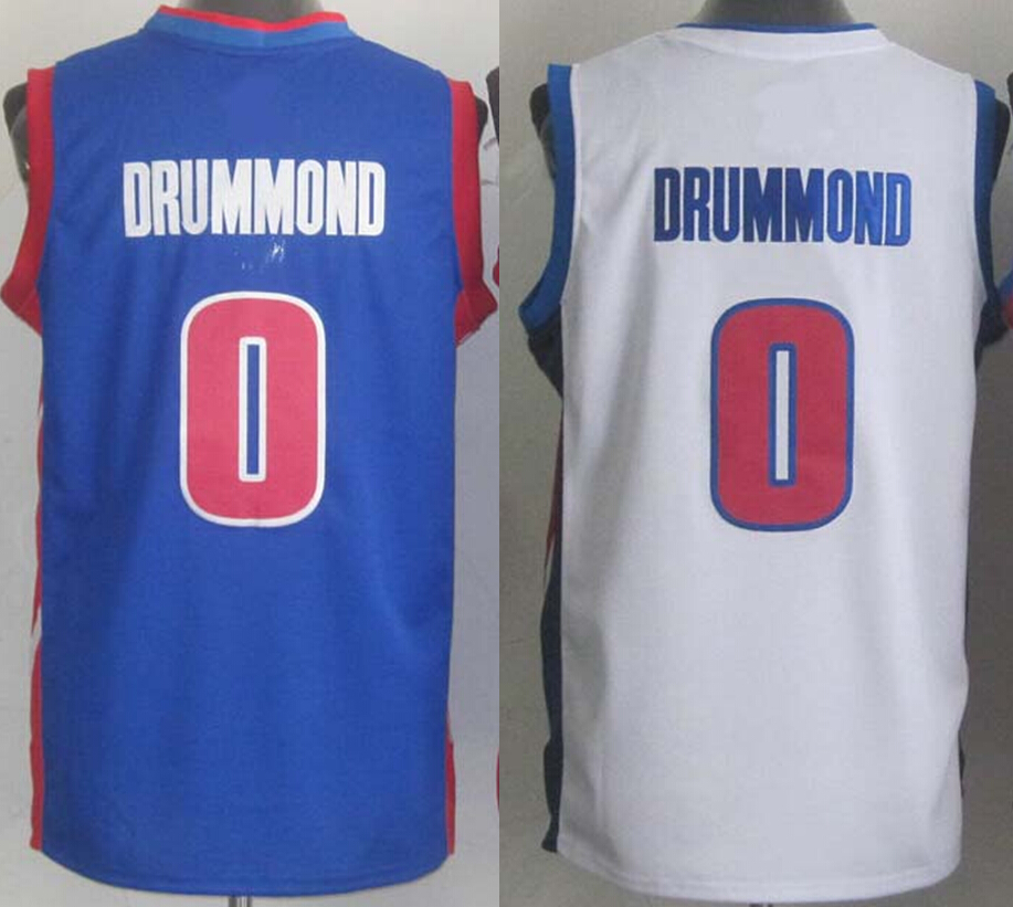 Cheap Sale #0 Andre Drummond Jersey Color White Blue ...