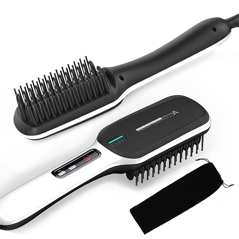 Professional Electric Anion Hair Comb Iron 30s Fast Heating