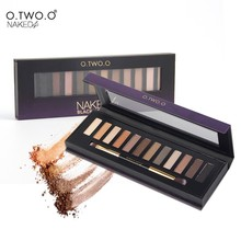 O.TWO.O  New Arrival  Palette Eyeshadow  Highlighter Glitter and Matte Smoky Eyeshadow Palette 12 Shades