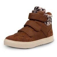 2016 ילדים חדשים UOVO נעלי חורף חמות בנים בנות נעלי ילדי נעל 5 צבע עור סינטטי קיין מדיה 30-39