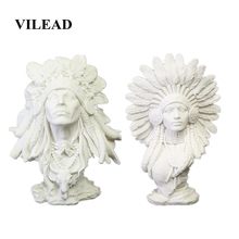 VILEAD 30cm 11.8 Sandstone Indian Woman Figurines Vintage Home Decor Indian Statuettes Christmas Decorations for Home Office