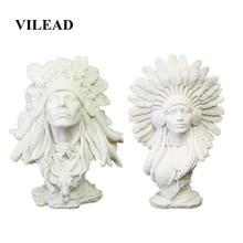 VILEAD Figurines indiennes femme en grès, 30cm, 11.8 pouces, décoration intérieure Vintage, statues indiennes de noël pour le bureau et la maison