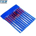 TASP MTS013 10pcs 140mm Diamond Coated Needle File Set Hand Tools for Ceramic Glass Gem Stone Hobbies and Crafts