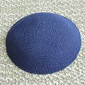 Cotton string knitted kippot Jewish Yarmulke Kippah Kippot 15cm skull caps Navy blue color