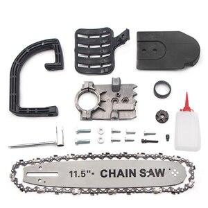 Image 2 - DIY Elektrische Zaag Accessoires 11.5 Inch M10 Kettingzaag Beugel Set Veranderd 100 Haakse Slijper In Kettingzaag Kettingzaag Converter