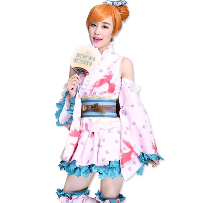 17e8dd3e5d4d LoveLive! Love Live Sonoda Umi Summer Festival Kimono Yukata bathrobe Fancy  Dress Uniform Outfit Anime Cosplay Costumes on Aliexpress.com