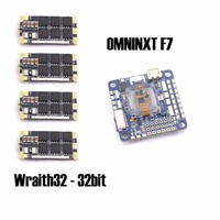 OMNINXT F7 Flight Controller Board and 4 pieces Wraith32 32bit BLHELI ESC for FPV quadcopter drone frame