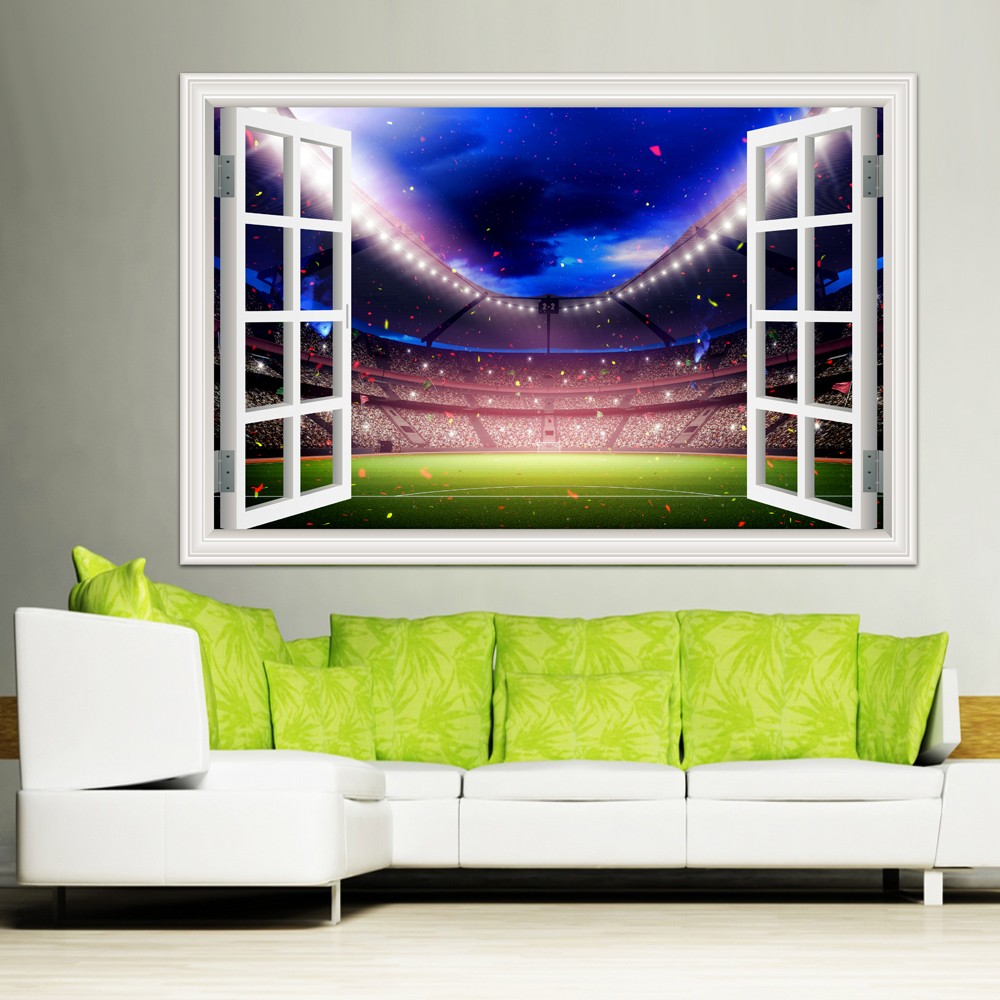 Home Decor Image: Large Wall Stickers Home Decor Football Ball Soccer
