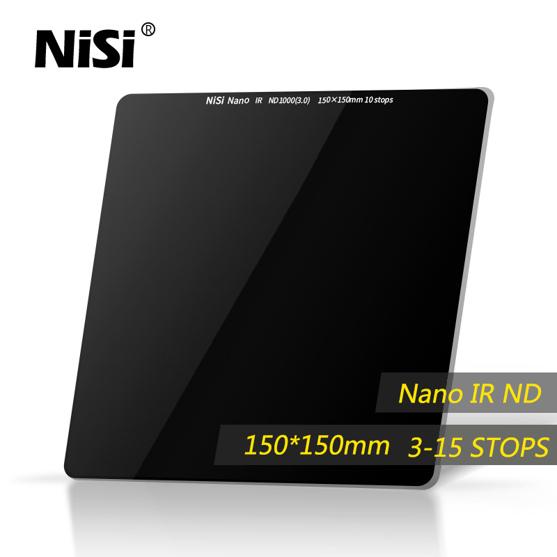 NiSi Nd Filter 150*150mm IR Nd8 Nd64 Nd1000 Nd32000 Square Multi Coating Nano IR ND Filter Optical Glass DHL free shipping