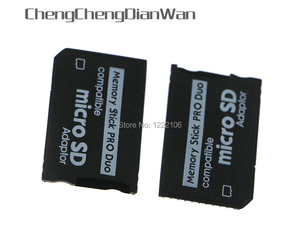 Image 1 - ChengChengDianWan Yüksek Kaliteli Mini Mikro SD SDHC TF Memory Stick MS Pro Duo Adaptörü Dönüştürücü Kartı psp 1000 için 2000 3000