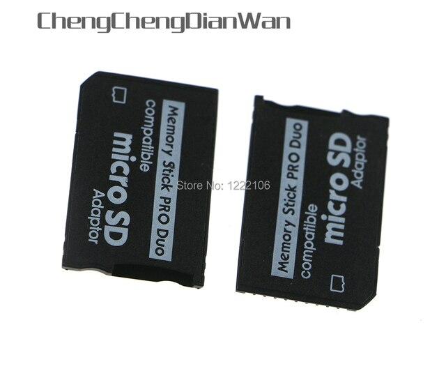 ChengChengDianWan Yüksek Kaliteli Mini Mikro SD SDHC TF Memory Stick MS Pro Duo Adaptörü Dönüştürücü Kartı psp 1000 için 2000 3000