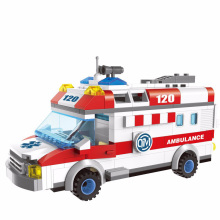 Enlighten Ambulance Truck Building Block Set Model 328+pcs Educational DIY Construction Bricks Playmobil Toys For Children ynynoo enlighten 308 pirates series black pearl building block sets educational diy construction bricks baby toys for children page 3