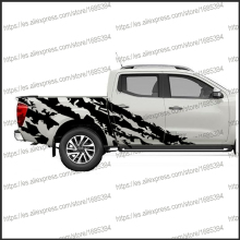 free shipping 2PC body rear tail side graphic vinyl for NAVARA NP300 2015 sticker