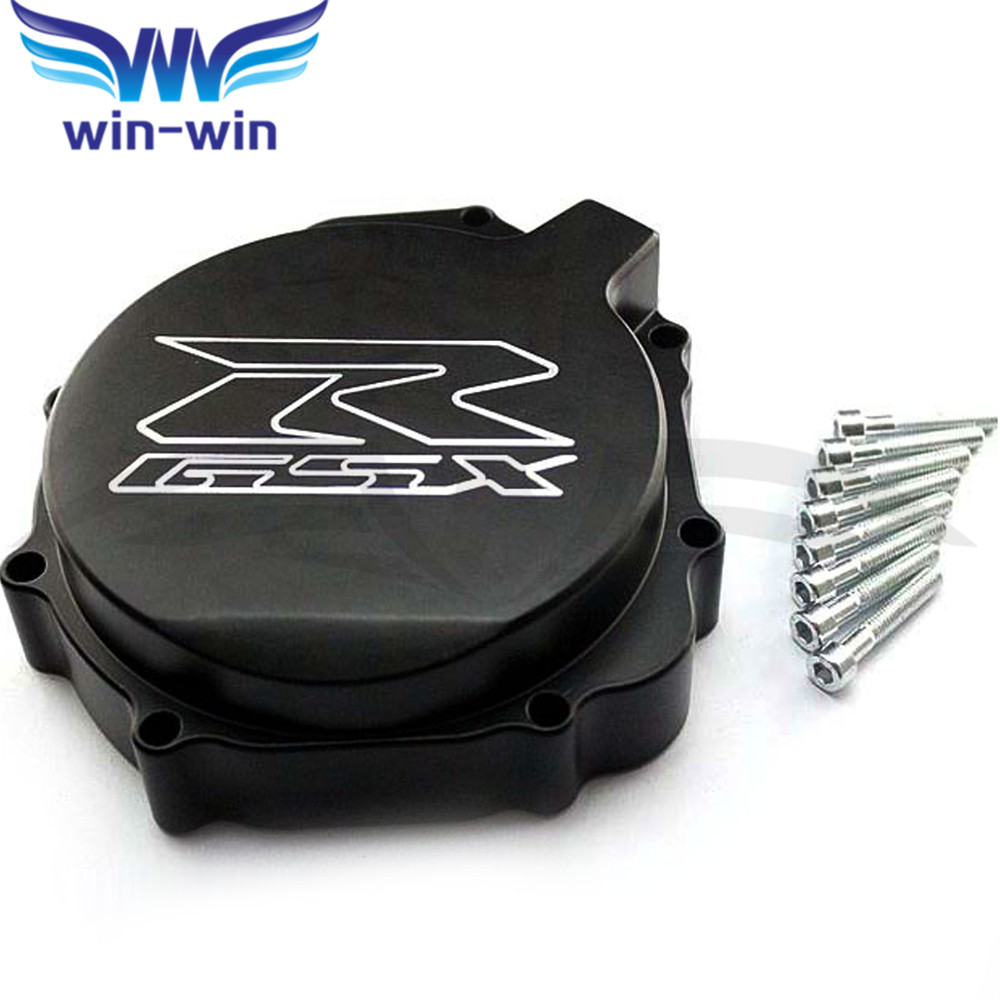 high quality  black  motorcycle  engine stator cover  crank case cover  For SUZUKI GSXR600 750 2004 2005