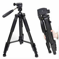 Zomei Q111 Camera Stand Tripod Aluminum Lightweight Professional Portable Camera 3-Way Swivel Pan Head for Canon Nikon Sony DSLR
