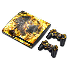 Hot selling beschermende vinyl skin sticker cover voor playstation 3 slim voor PS3 slim(China)