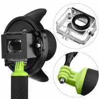 Fashion 4 Portable Diving Dome Port For Xiaomi Yi Camera Underwater Photography Cover With Floating Bobber
