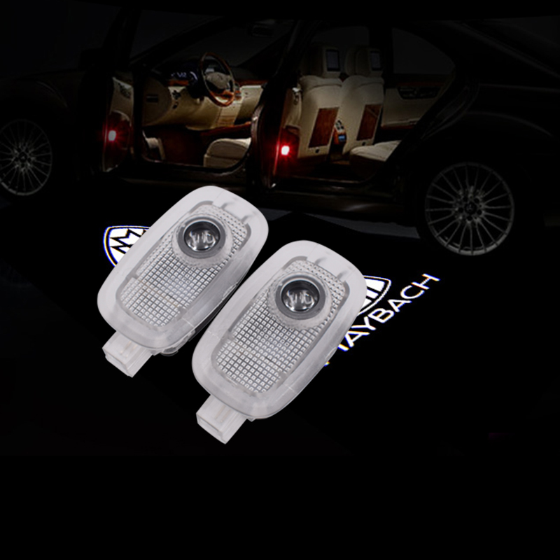 2pcs for Mercedes Benz S class W221 3D letter logo light led laser car door projector Ghost Shadow projection ambient light in Decorative Lamp from Automobiles Motorcycles