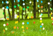 hot deal buy laeacco green spring dots pendant grass lawn party baby birthday portrait scenic photo backdrops photo backgrounds photo studio
