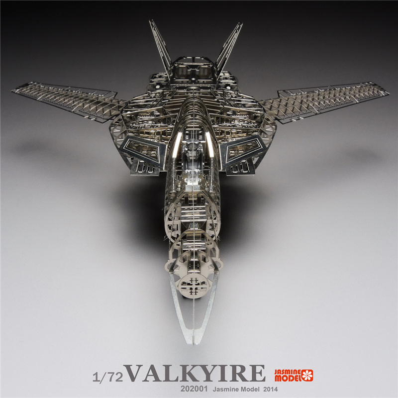 MMZ MODEL Jasmine 3D metal puzzle 1/72 Valkyrie Space Fortress Macross Assembly metal Model kit DIY 3D Laser Cut Model puzzle super space aircraft style diy 3d paper foam puzzle multicolored