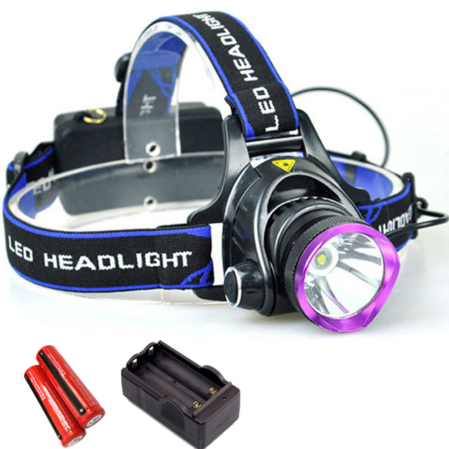 Portable Light CREE Q5 LED Headlamp Waterproof Headlight Torch 1600lm Head Lamp + Charger + 18650 Battery for Camping