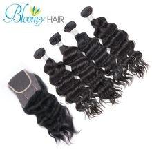 Unprocessed 7A Peruvian Virgin Hair Natural Wave Human Hair Ms Lula Hair Products 4pcs With 1pc Lace Closure 5pcs a lot