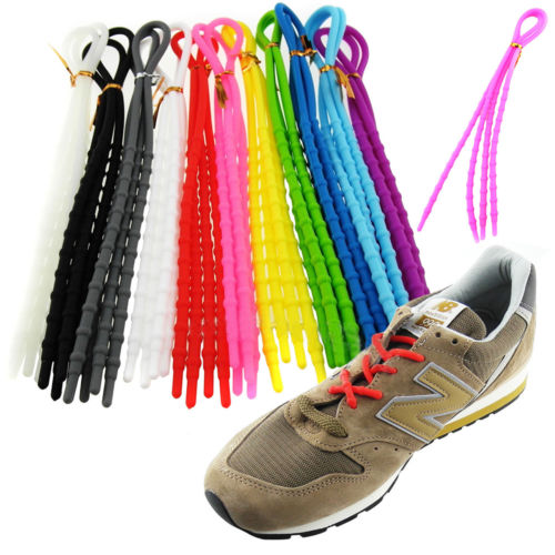 1 pair X-Tie Easy Soft Silicone Shoelaces Sport Lazy  Shoe Lace Strings Cable Running SY