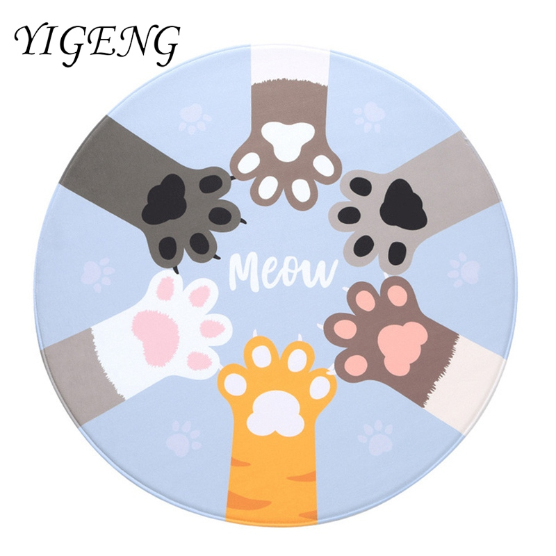 Round Kitchen Carpet for Living Room Non-slip Children Bedroom Carpet Area Rug Computer Chair Floor Mat Carpet for Kids Room