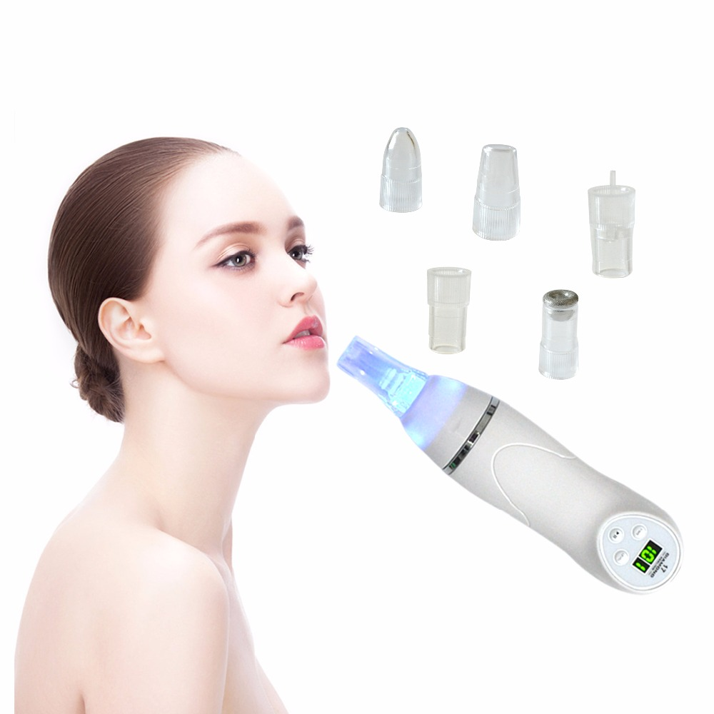 Skin Care Pore Vacuum Blackhead Remover Acne Pimple Removal Vacuum Suction Tool Face Clean Facial Diamond Dermabrasion Machine electric blackhead vacuum remover suction acne pimple removal machine face cleaning skin care tool