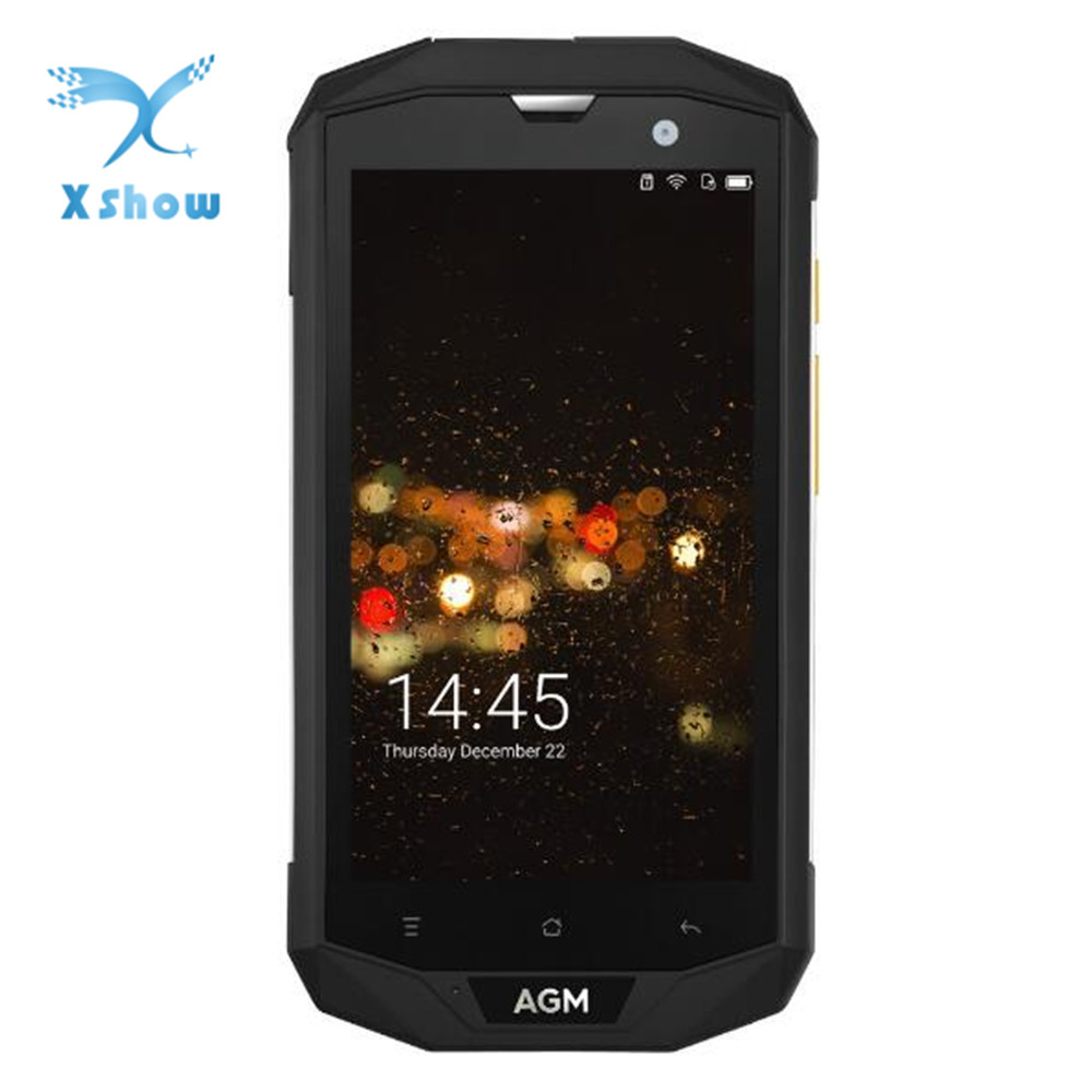 AGM A8 EU 3 Proof Smartphone 5 0inch HD 4GB 64GB Shockproof Cellphone IP68 MSM8916 Quad
