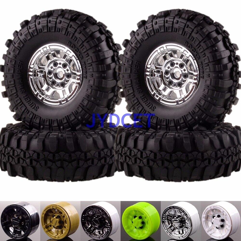 Roues de Beadlock de chenille de roche 617-7035 et pneus de pneu de Swamper de souper pour la voiture tout-terrain 1:10 RC Gmade D90 SCX10
