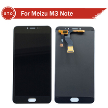 Para meizu m3 note meilan note 3 pantalla lcd con pantalla táctil digitalizador asamblea envío gratis