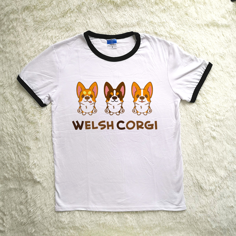 2019 New Fashion Brand Clothing Welsh Corgi Tee With Pocket Detail For Men Women Children Tops & Tees T-shirts