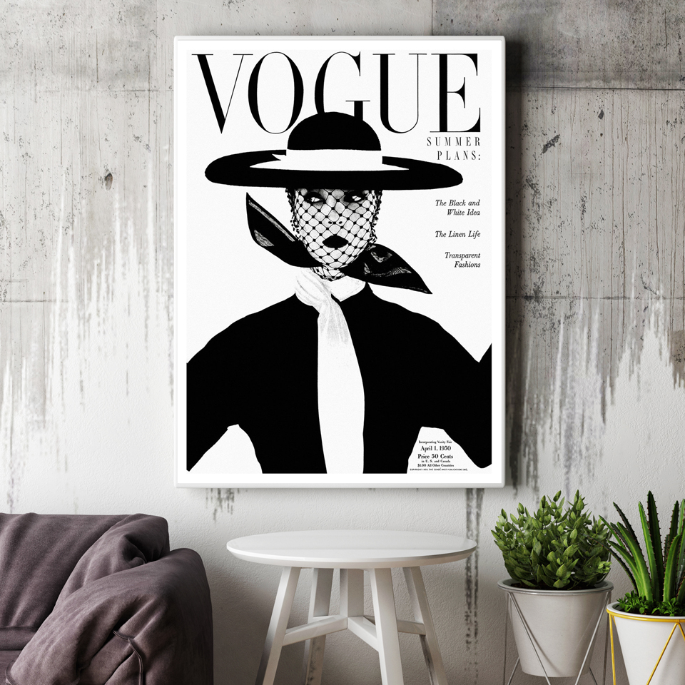 Art Et Decoration Magazine Subscription Us 5 69 26 Off Nordic Poster Modern Fashion 2 Piece Canvas Art Wall Portrait Home Decor Vogue 1950 Magazine Cover New Hot Sell Sunrise Cuadros In
