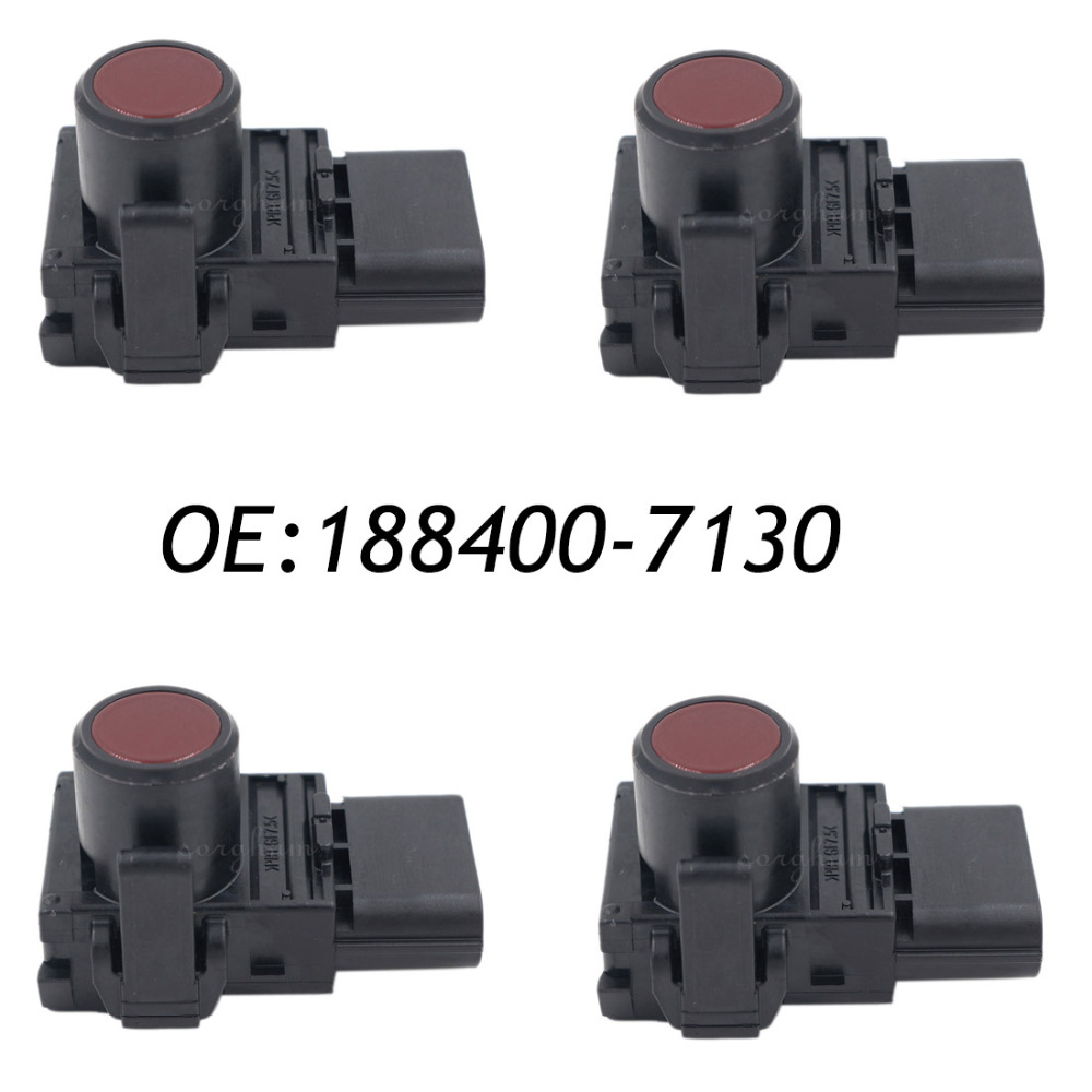 цены  4PCS PDC Parking Ultrasonic Sensor Red Color For Toyota 188400-7130