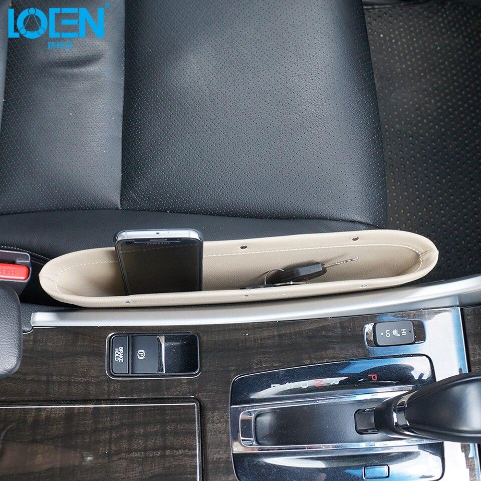 1pc Berkualiti tinggi Kulit Kereta Seat Gap beg kunci telefon ringan - Aksesori dalaman kereta - Foto 3