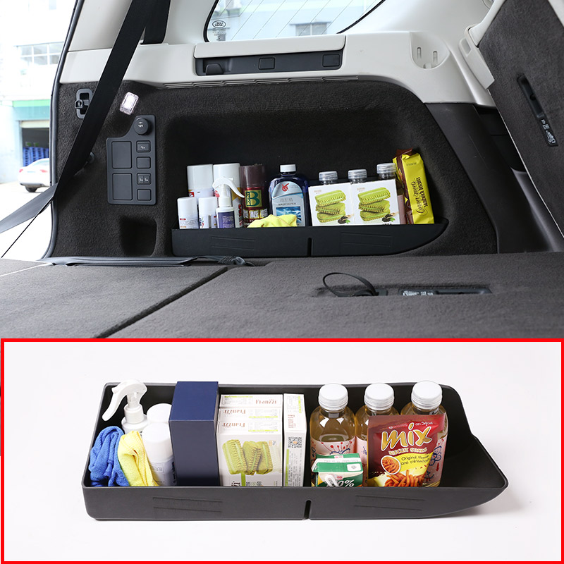 Black ABS Plastic Car Trunk Storage Box Tray For Land Rover Discovery 5 LR5 2017 2018