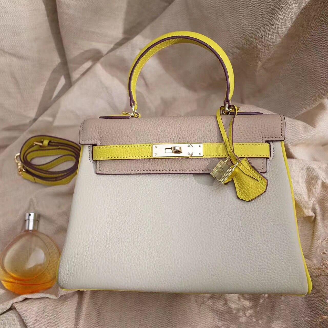 yellow Pink Rabat linen Sac Pour Couleur En Véritable Cuir Croix À black Blue Shouder Femmes Main Contraste Nouveau O6RwP