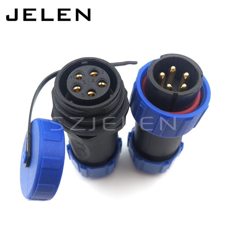 SP2110/P5 waterproof plug and socket cable connector 5 pin, 5 pin waterproof electrical connector,connector waterproof IP68