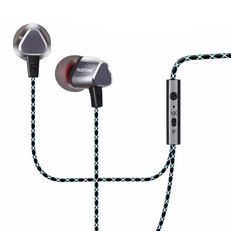 LEXTONE X36M in ear Earphones stereo bass Headset phone wired control metal case Earphone microphone hd sound quality Earphones in Phone Earphones Headphones from Consumer Electronics