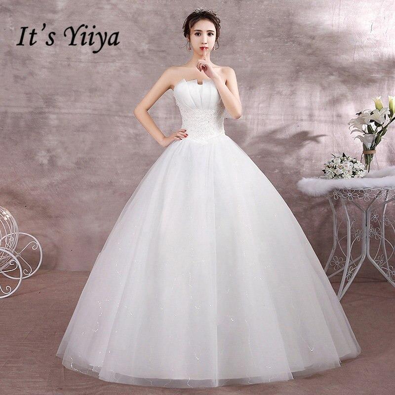 Ruching Wedding Gowns: It's YiiYa Wedding Dresses 2019 Ruched Pleat Strapless