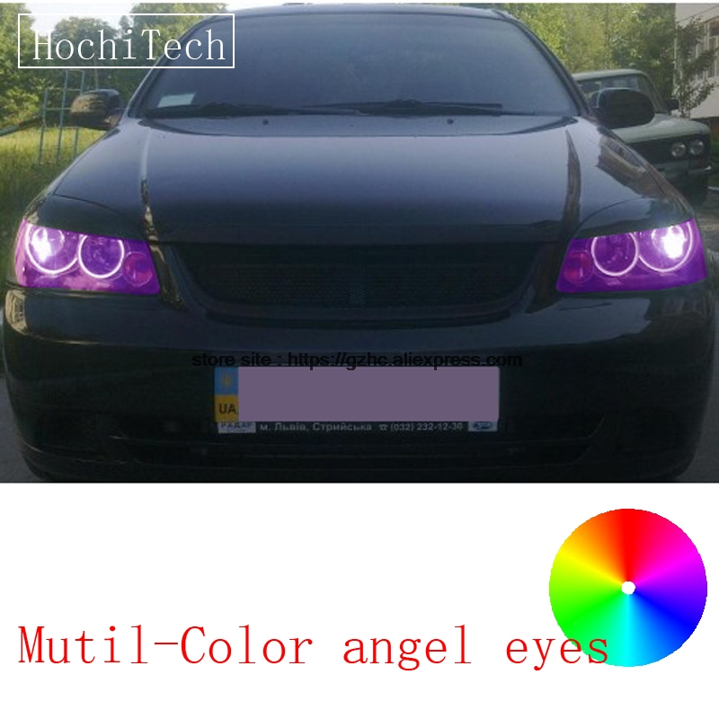 HochiTech for Chevrolet Lacetti Optra Nubira 2002-08 car styling RGB LED Demon Angel Eyes Kit Halo Ring Day Light remote control hochitech for mazda cx 7 cx 7 2006 2012 car styling rgb led demon angel eyes kit halo ring day light drl with a remote control