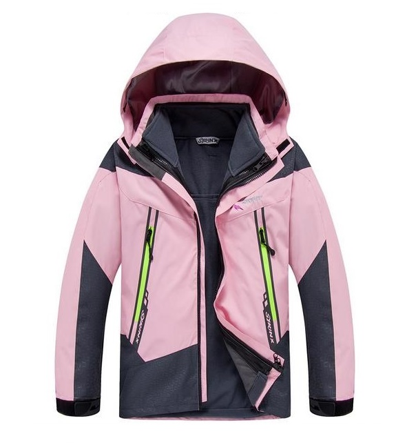 Camping Climbing Kids 3in1 Outdoor Sport Waterproof Jacket Girls Boys Hiking Coat 8-16y Child Fleece Liner hot sale camping climbing kids 3in1 outdoor sport waterproof jacket girls boys hiking coat ski casaco 8 16y child fleece liner