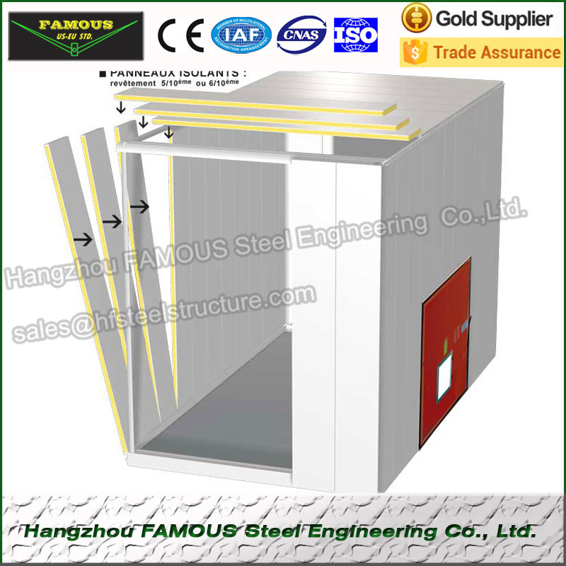 Sandwich Panel Used In Walk In Freezer For Meat , Walk In Cooler Refrigeration Unit And Supermarket Cold Storage For Potato