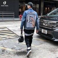 Novel ideas 2018 New Autumn Winter denim jacket men fashion Hip hop streetwear jeans jacket cotton US Size
