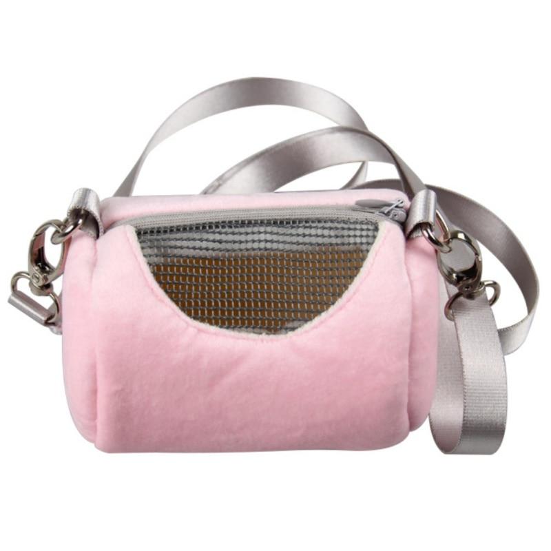 PanDaDa Pet Hamster Carriers Small Animals Portable Single Shoulder Bag Zipper Mesh Backpack 7cmx12cm=