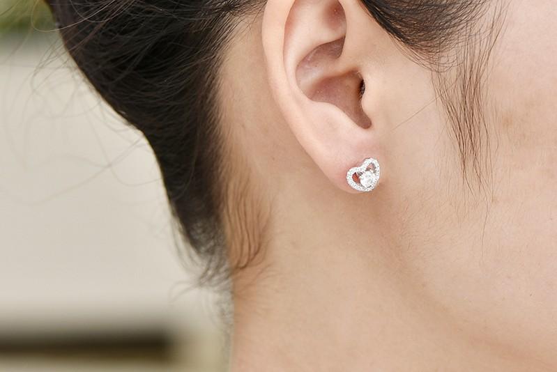 sterling silver stud earrings wholesale jewelry DE08310A (6)
