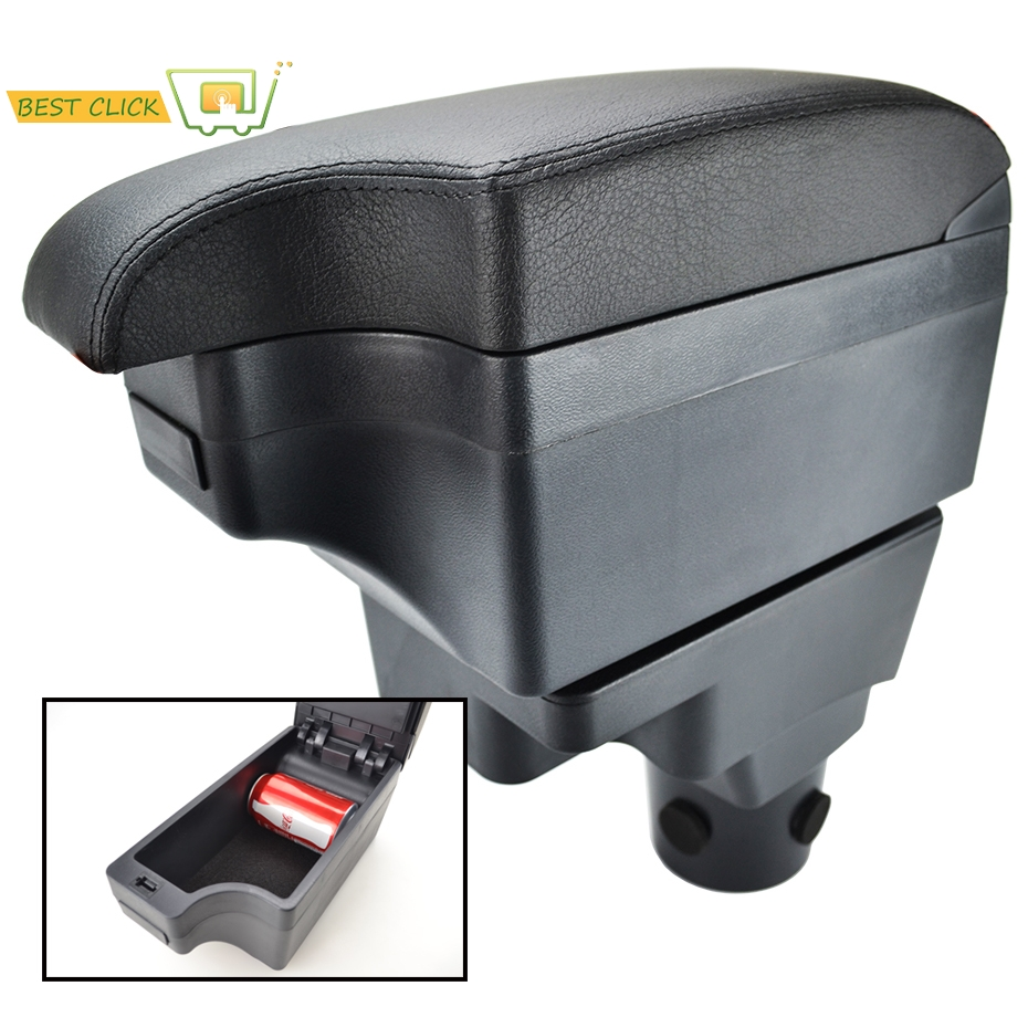 Modification Armrest For Chevrolet Sonic Aveo 2012 2018 Central Content Black Leather 2013 2014 2015 2016