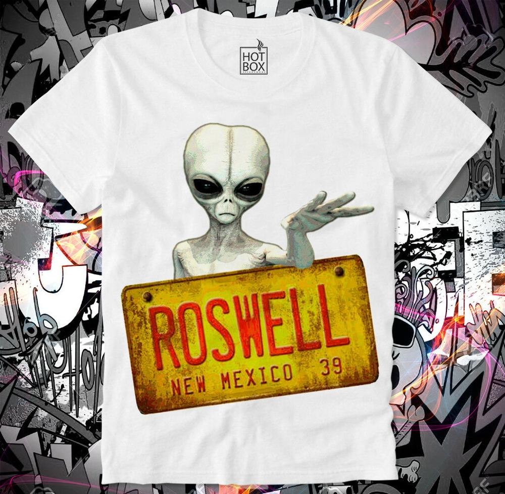 T Shirt Roswell Ufo Alien Area 51 Conspiracy Conspiracy Theory Men's Brand Cross Fit Designs Slim Fit Crew Neck Movie T-Shirt image